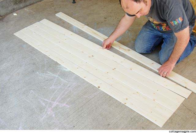 Dry Fitting the Economy Pine Paneling