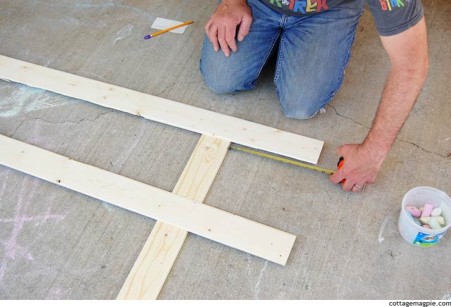 Measuring the First Paneling Strip for the Faux Door