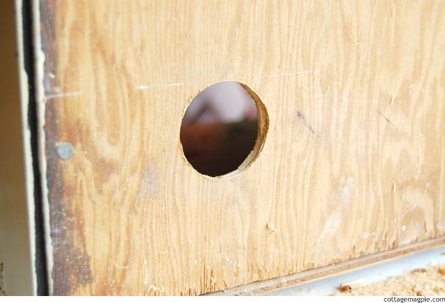 A Hole in the Back of a Cabinet via Cottage Magpie