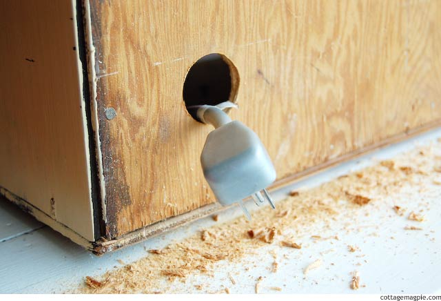 Feeding a Power Cord Through the Back of a Cabinet via Cottage Magpie