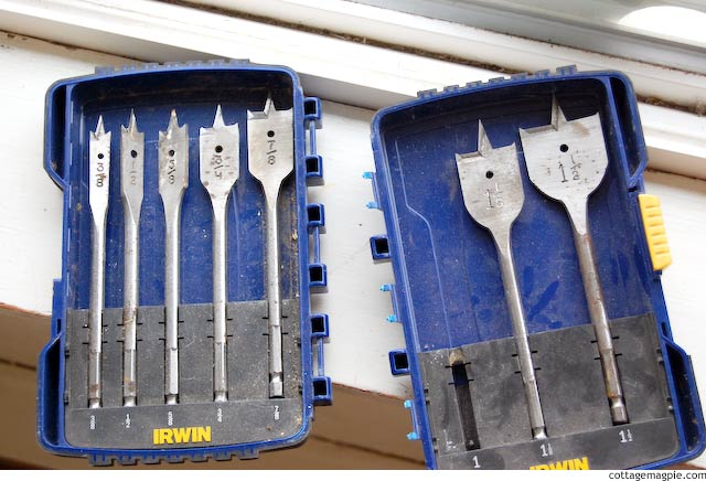 Spade Bit Set via Cottage Magpie