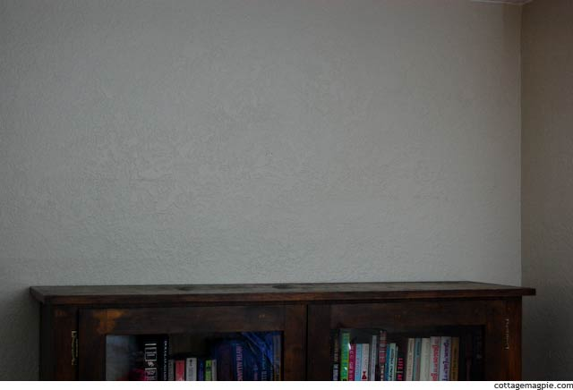 Blank Space Above Bookshelf