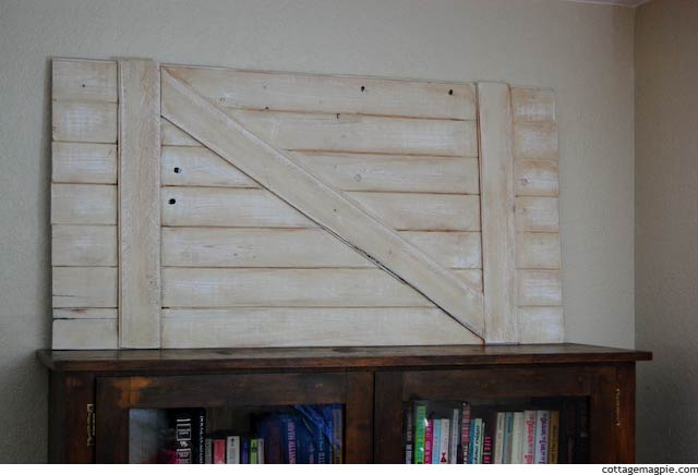 Bookshelf with Plank Backdrop
