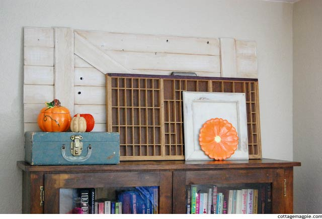 Fall and Halloween Mantel