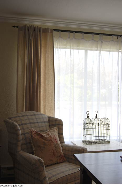 Living Room Curtains and Wing Chair