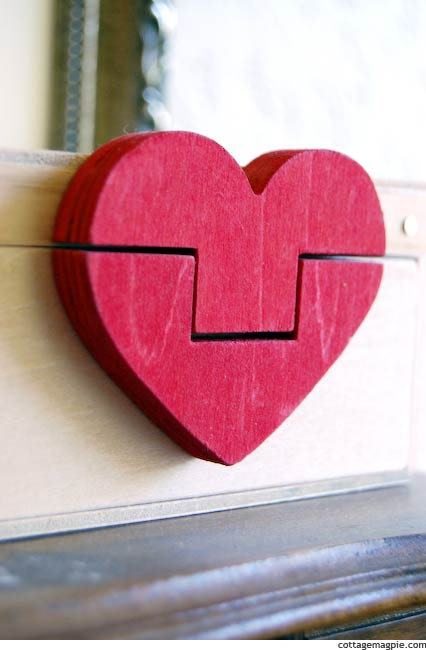 Little wooden heart box