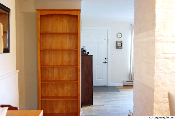 Bookcase in Kitchen Entry
