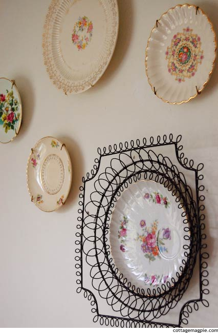 Cottage Plate Wall via Cottage Magpie
