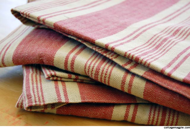 French Stripe Linen Fabric