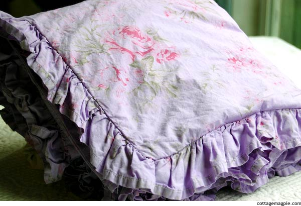 Overdyed Linens for Baby Girl's Room
