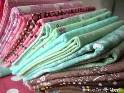 Pink Turquoise Fabric