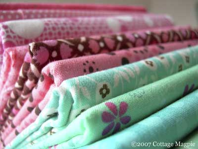 Pink and Turquoise Fabric