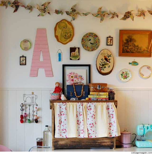 Refocusing: My Sewing Studio via cottagemagpie.com