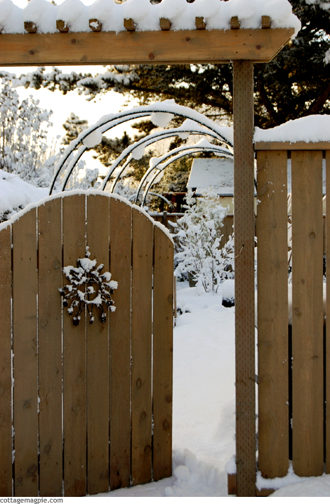 Snow on Garden Gate