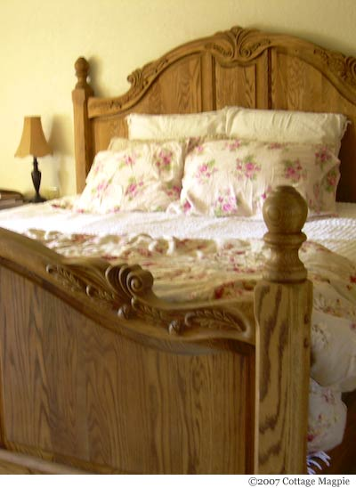 Solid Oak Panel Bed