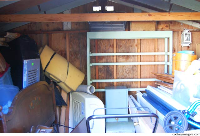 The Garden Shed. Inside. Before. Yikes. via cottagemagpie.com