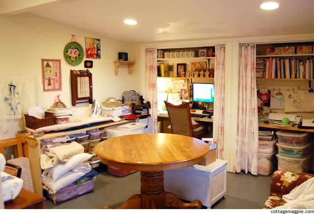 Messy Craft Room via Cottage Magpie
