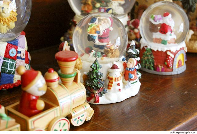 Christmas Snow Globe Collection via Cottage Magpie