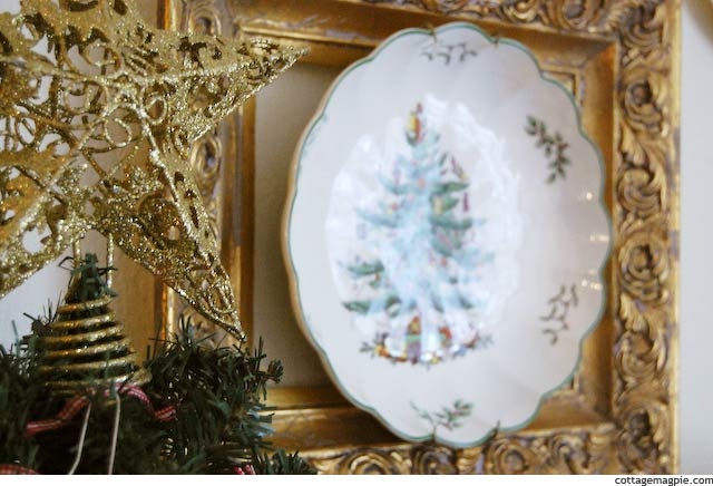 Thrifted Spode Christmas Tree Plate via Cottage Magpie