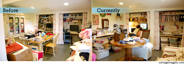 Craft Room Before & Current