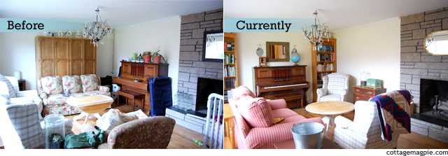 Living Room Before & Current