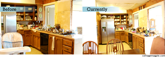 Kitchen Before & Current