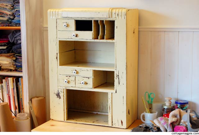 Vintage Thrifted Radio Cabinet Makeover via Cottage Magpie