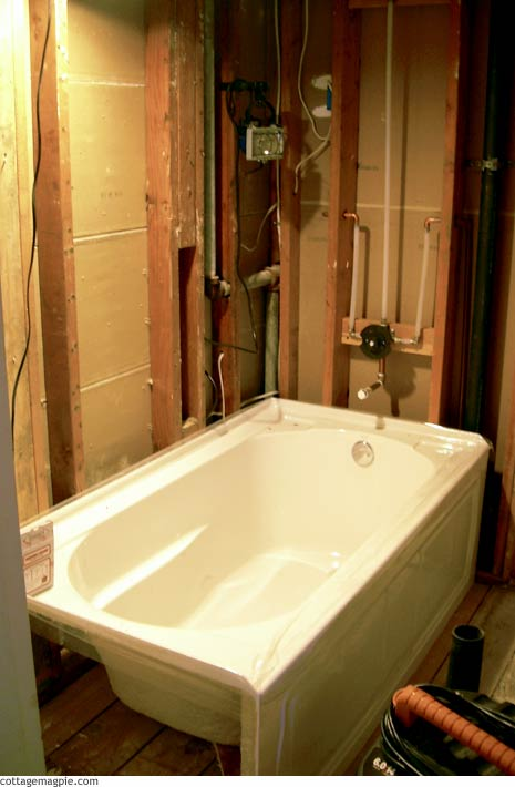 Guest Bathroom Tub Install — Cottage Magpie