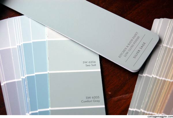 Restoration Hardware Paint Color Fan Deck. From Silver Sage to Sea Salt   Cottage Magpie