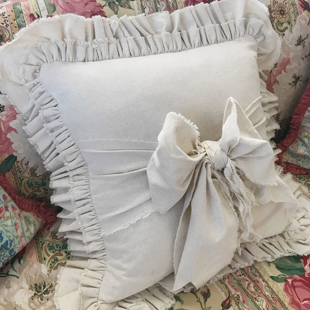 @theemptynest - I admit I fell in love with this pillow because of all the amazing ruffles. But Janet's true talent is her beautiful watercolor paintings which you can get printed on pillowcovers and more. Definitely go look!More from Janet:Society 6VidaInstagram