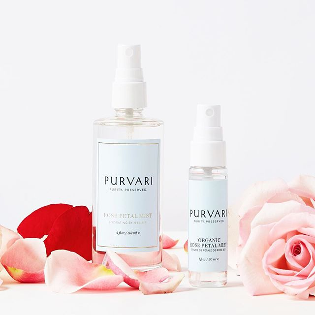 Don't stress! There's still time to treat yourself to nutrient-rich rose petal power that restores your skin's ph balance, reduces redness and brightens dark spots. 🥰 Receive 25% OFF a 4oz and 1oz bottle GIFT SET with offer code BEMINE.  #purvari #rosewater #skincare #naturalbeauty #roses #treatyourself
