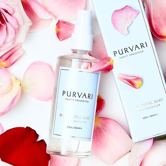Every 4oz. bottle is made with over one hundred roses, slowly distilled only once, to extract the purest form of rose water. 🌹 Enjoy now 25% OFF your ENTIRE ORDER with code SPRING. . #purvari #rosewater #farmboundpharmfree #organicskincare #skincare #purebeautyglobalawards2019