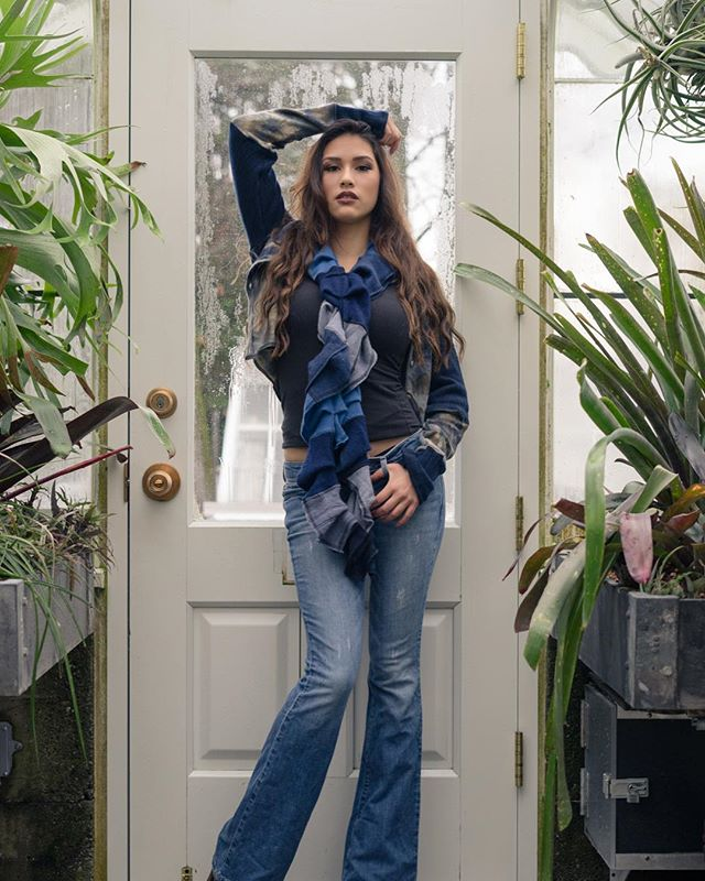 It's a blue kind of day 😍perfect for one of our cashmere ruffle scarves like this one shown on @itssarahdecker 📷 @dominicarenasphoto
