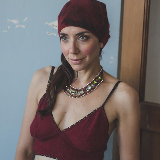 @alissacatt in our cashmere bralette & beanie. These are so soft & will warm your heart & head ❤️📷 @douglasfur365 on location @locketspace