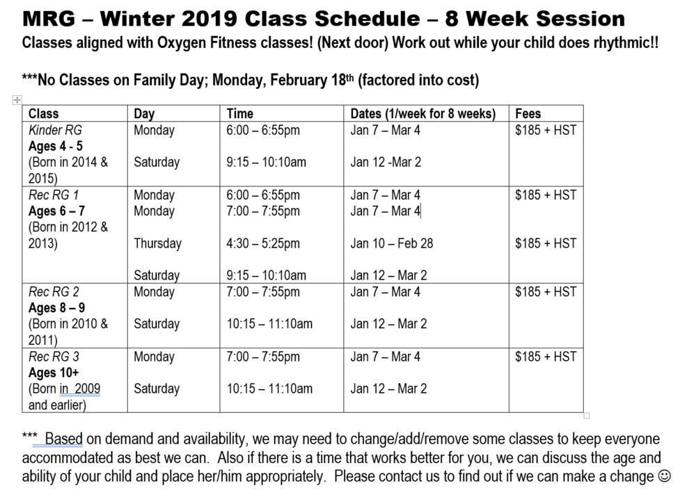 Winter 2019 Class Schedule - Screen Shot.PNG