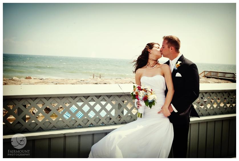 Philadelphia Wedding Photography Beach Wedding Kiss On Beach