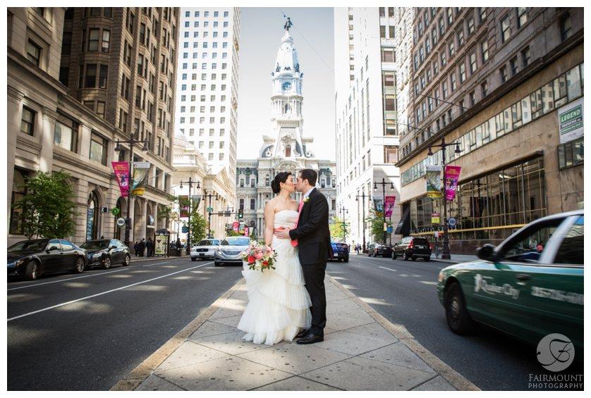 Bride & Groom on South Broad Street
