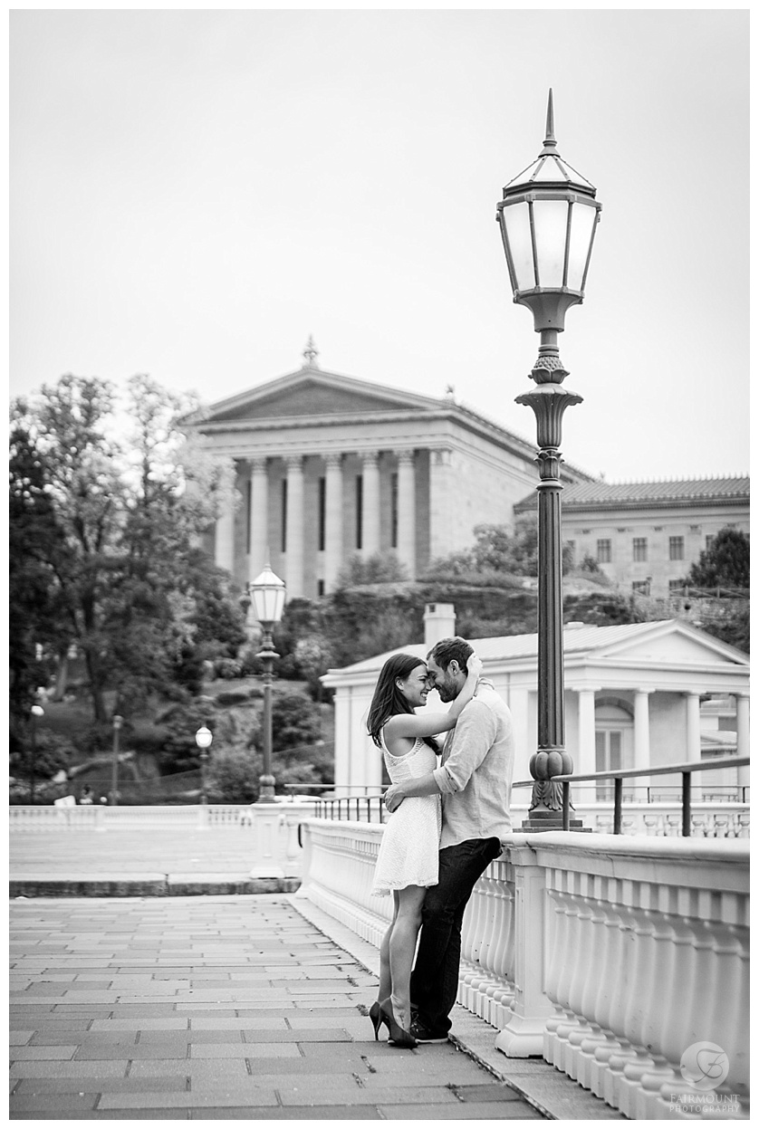 Gray Klein Engagement Philadelphia Art Museum Water Works