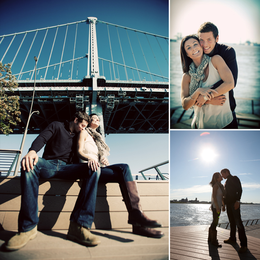 Engagement photos at Race Street Pier