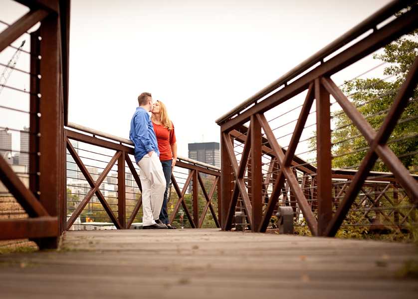 Couple on walkway near Philadelphia Waterworks