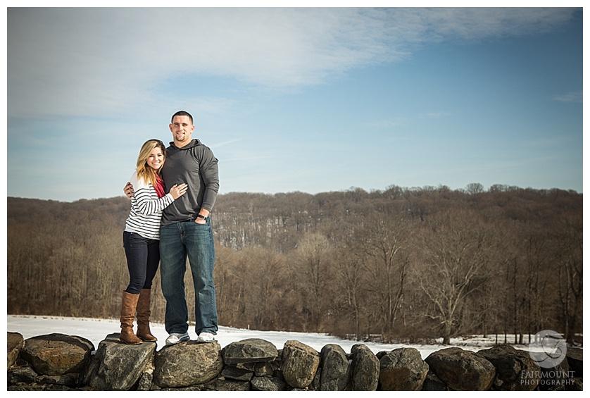 Natale Worrilow Engagement at Brandywine Creek State Park