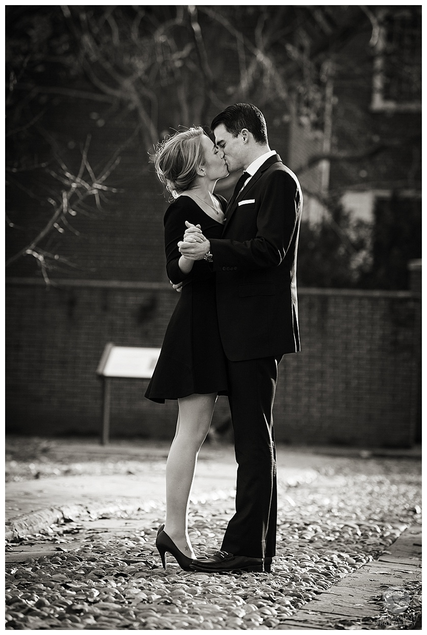 Tobiase Fanandakis Engagement Philadelphia black and white