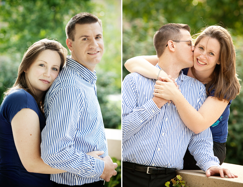 Summer evening engagement portraits in park by Philadelphia Museum of Art