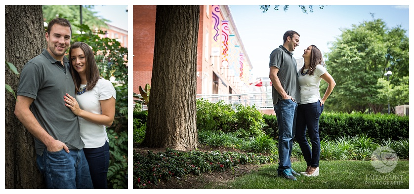 Temple University Liacouras Walk engagement shoot