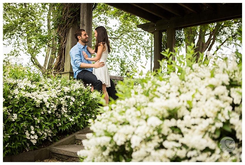 Gray Klein Engagement Philadelphia Garden