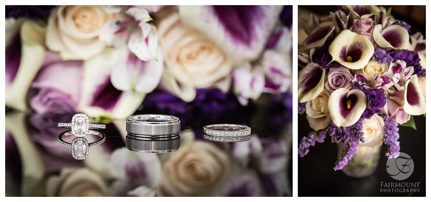Nothstein Wedding rings and flowers
