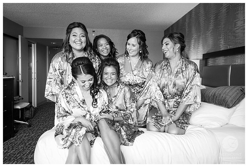 Appleford Estate Wedding Bridesmaids in robes