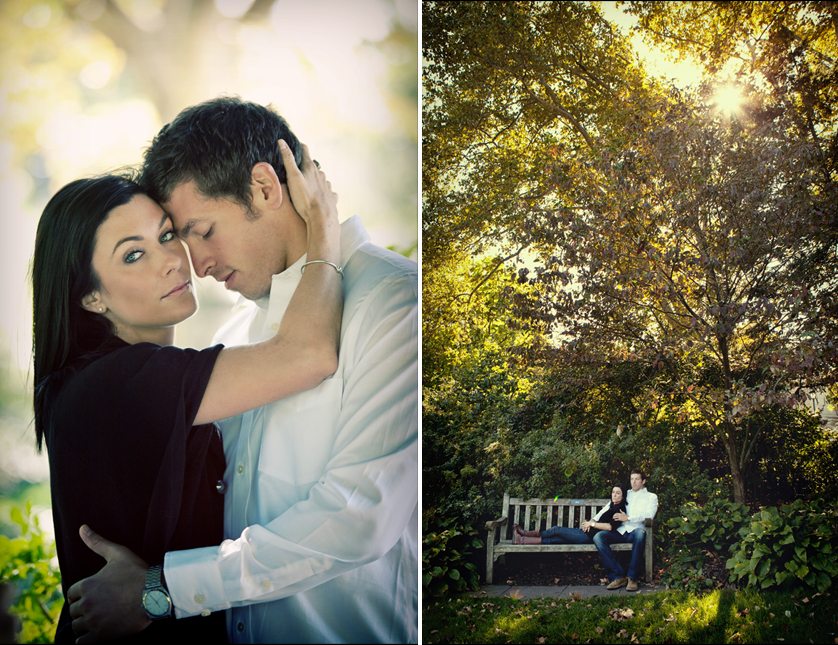 Couple relaxing in the Azalea Garden