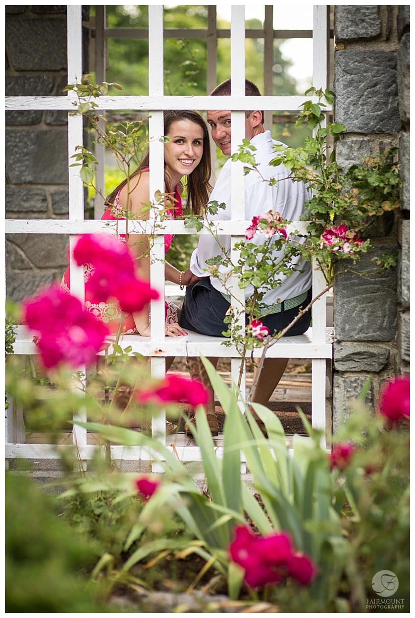 Turezyn Daponte Engagement Rhode Island garden window