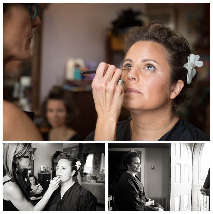 Bride Getting Ready for Valley Green Inn wedding